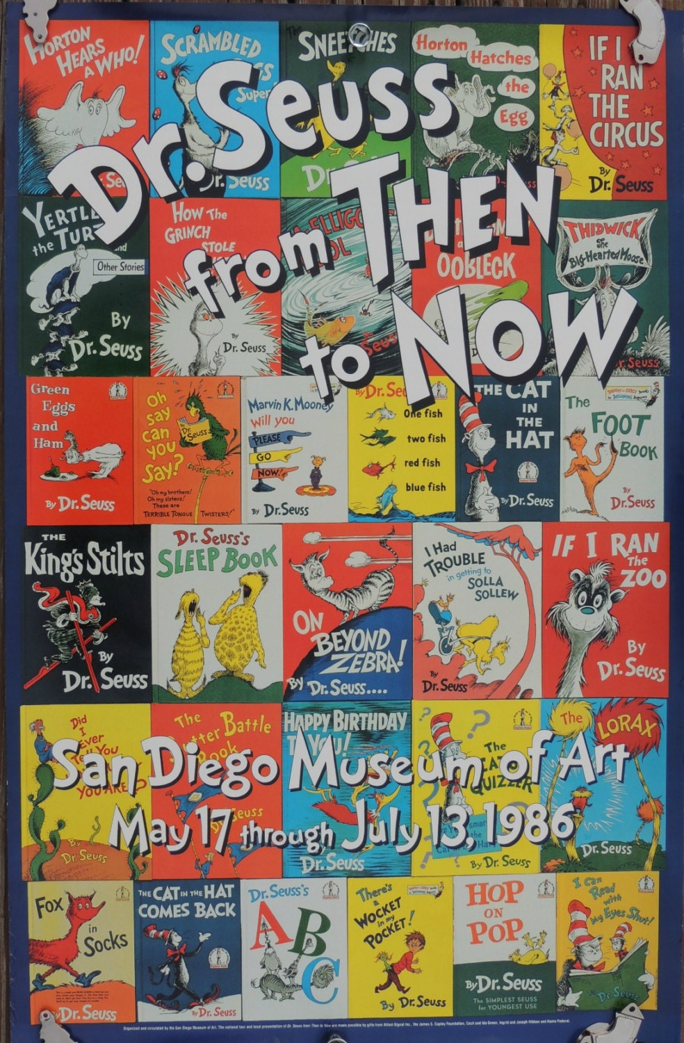 Vintage Dr Seuss Poster 1986 From Then To By Mtnlaurelvintage