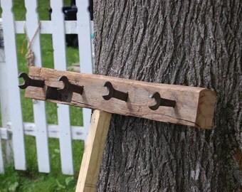 Reclaimed wooden beam - Coat Rack