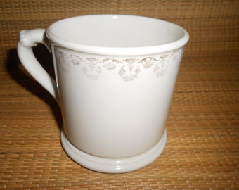 Shaving Mug Antique Barber Collectible Made By Homer Laughlin- Dad's Perfect Shave Accessory