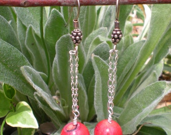 Samba earrings, bohemian summer collection, unique jewelry by Grey Girl Designs on Etsy