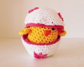 Eggs Crochet Pattern chicks - Amigurumi PDF- playful egg box TOY kids - Instant DOWNLOAD