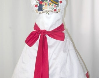 Day of the dead embroidered wedding dress