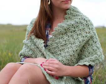 PDF Crochet Pattern - Cowgirl Lastura Wrap