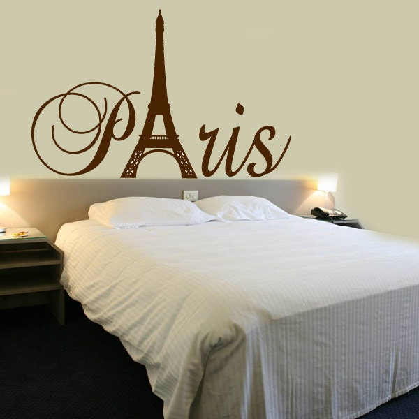 paris tour eiffel tower small wall decal custom size and color. Black Bedroom Furniture Sets. Home Design Ideas
