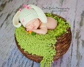 Happy Baby Bunny Hat for Easter - Made to Order