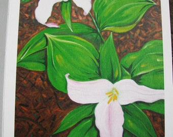 Trillium Flower - Note Card