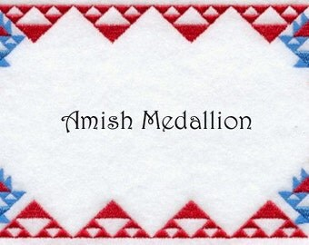 Quilt Label Made to Order Amish Medallion Design
