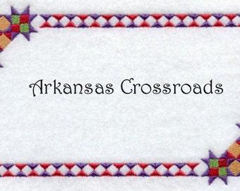 Custom Quilt Label Arkansas Crossroads