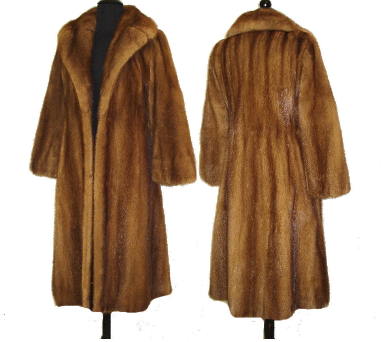 Reserved Vintage 1960s Coat . Full Length Mink Coat . Real Fur