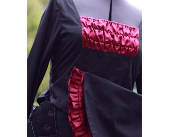 SALE gothic lolita blouse with huge sleeves black and burgundy