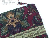 Vintage Royal Colors Brocade Tapestry and Lace iPad Cover - GypsyThread
