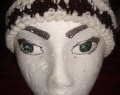 Cream and Brown Skull Cap Crochet