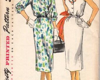 Bust 30-1960's Misses' Dress Simplicity 1114 Size 12