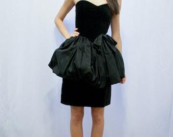VTG 80s Taffeta Party Dress S