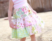 Size 3T.  Ready to ship.  Tiered Twirl dress, knit top dress, spring dream, summer dress