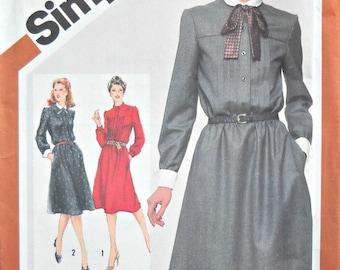 Simplicity 5134, Women's Dress Pattern, Size 14, Vintage 1981