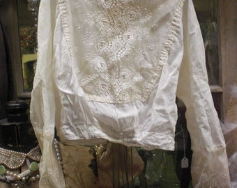 Lace And Linen 1800s Blouse