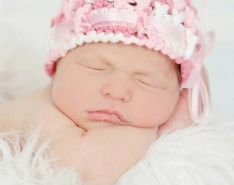 Crochet Pattern for Chrissy Beanie Hat - 6 sizes, baby to adult - Welcome to sell finished items