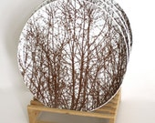 Vera for Mikasa Dinner Plates - the Birches, Brown