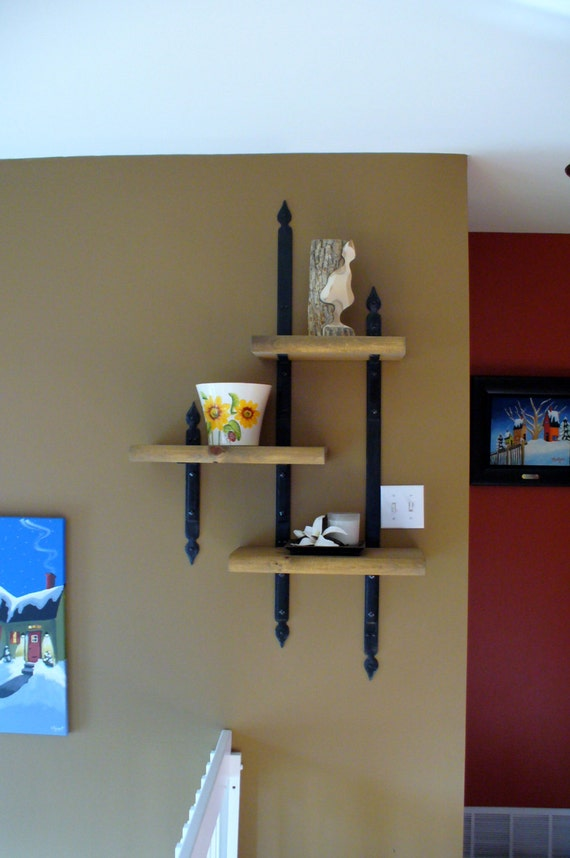 BLACKSMITH FORGED Shelf Brackets  by Naz