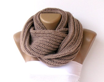 ON SALE // Chunky Knit Infinity Scarves Chunky Knit Scarf Winter Scarf Men Scarf Circle Scarf Knit Scarf Winter Accessories   senoaccessory