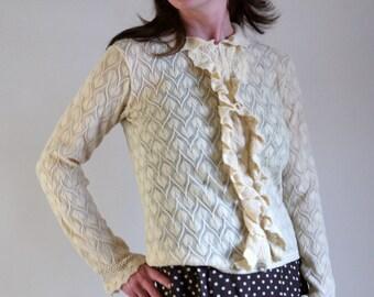 1950's sweater in buttercream