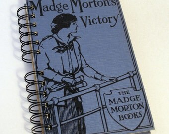 1914 MADGE MORTONS VICTORY Handmade Journal Vintage Upcycled Book Vintage Daily Diary