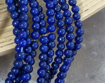 Lapis Blue Jade gemstone bead - 4 mm beads- full strand