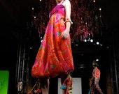 Women's Romper, Designer Alice in Wonderland, Cheshire Cat, Neon Vintage Fabric Jumper or Festival Costume