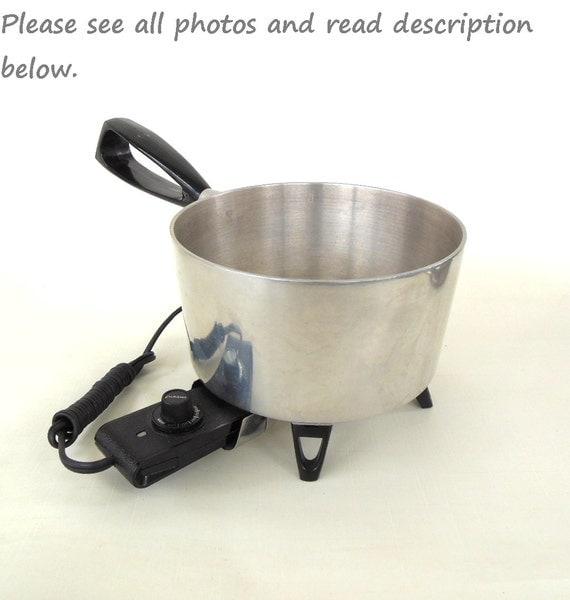 Westinghouse Electric Saucepan S28 Popcorn Popper Vintage Kitchen Appliance (no lid)