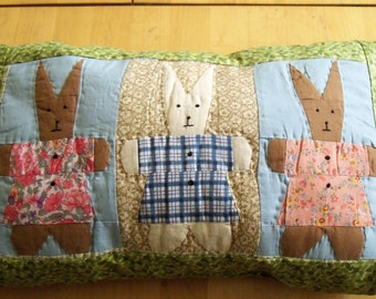Bunnies for Baby Pillow Nursery Rocker Shelf Tuck Easter Basket