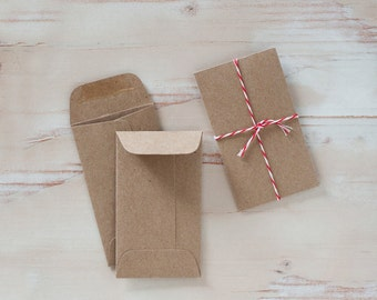 Brown Kraft Mini Envelopes - 10 pc / 25 pc
