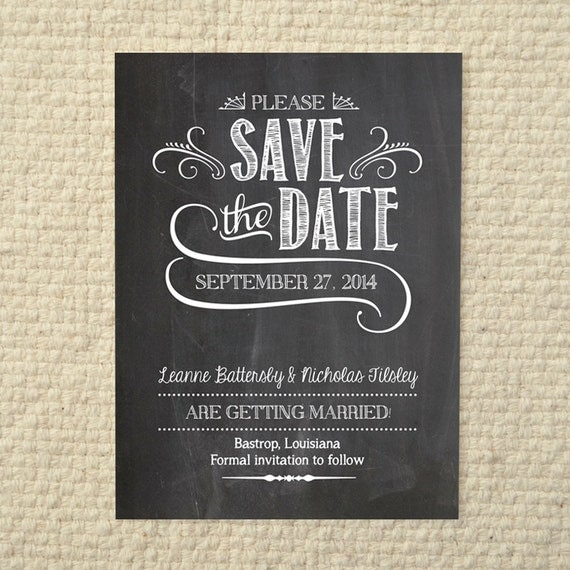 Wedding save the date handlettered by amyadamsprintables for Save the date templates free download