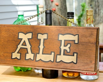 vintage wooden ale sign