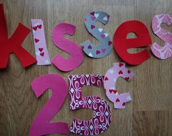 Diy Iron On Applique VALENTINE SHIRT Kisses 25 Cents Boy Girl Shirt Love Day Photo Prop My Little Beauty Queen