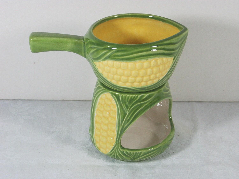 Sale Vintage Melted Butter Holder For Corn Lobster Charming
