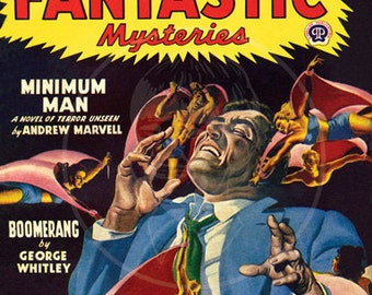 Famous Fantastic Mysteries (Aug 47) - 10x13 Giclée Canvas Print of Vintage Science Fiction Pulp Magazine