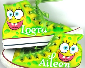 Custom Airbrushed Converse Sneakers - Cartoons, Logos, Icons - Anything can be painted