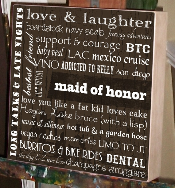 Wedding Day Gifts For Bride From Maid Of Honor : Bridal Party Gift, Matron of Honor Gift, Maid of Honor, Wedding Gift ...
