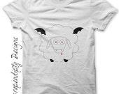 Iron on Vampire Shirt - Sheep Iron on Transfer / Halloween Kids Shirt / Funny Boys Tshirt / Vampire Sheep Printable / Baby Clothes IT52-P