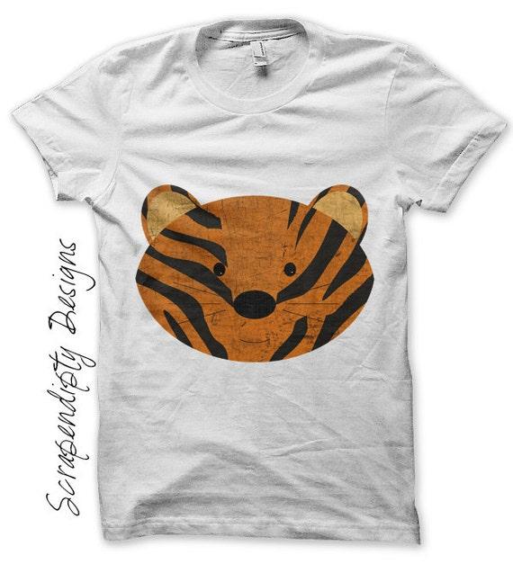 Tiger iron on transfer jungle iron on tshirt pdf printable for Custom t shirt transfers