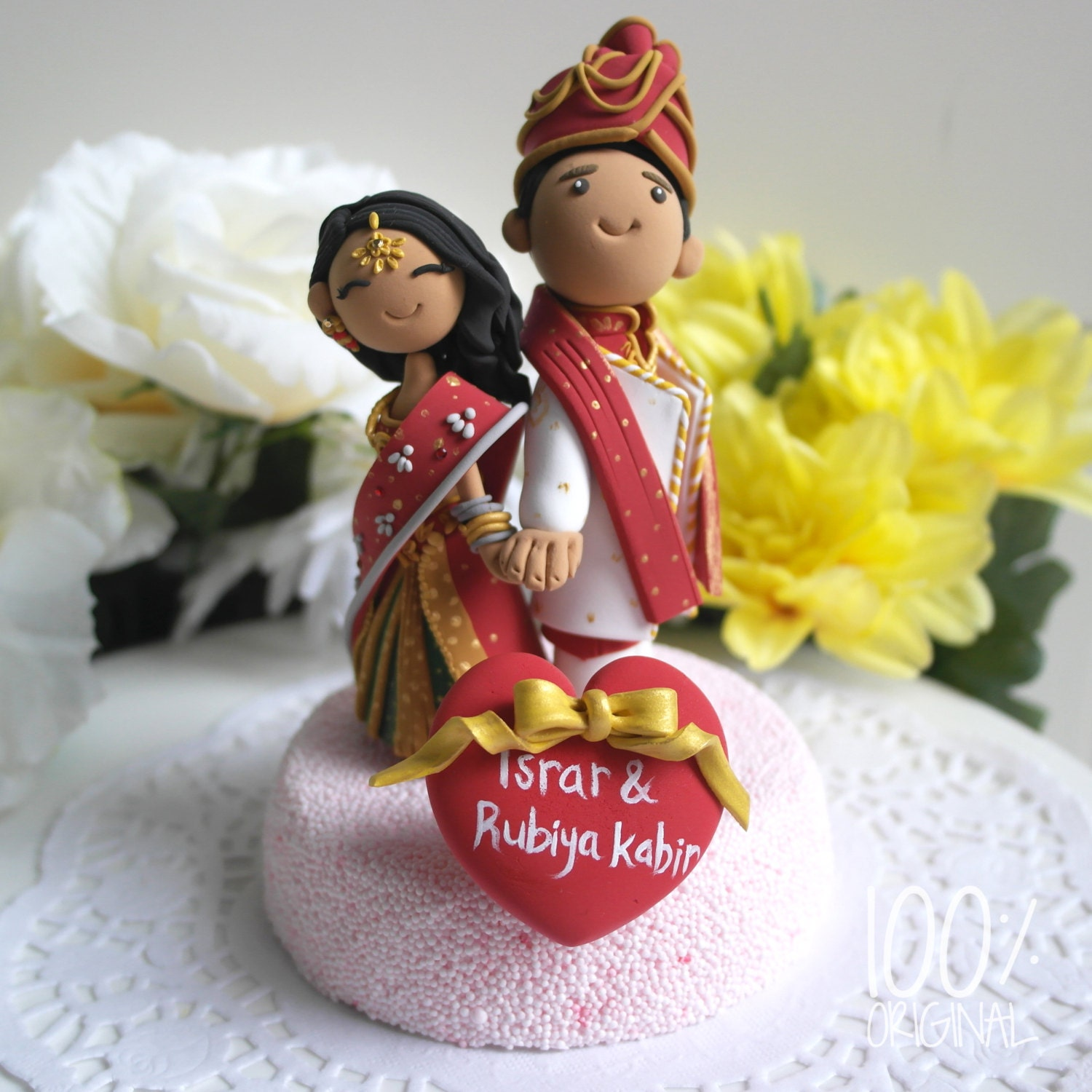 Custom Cake Topper Indian Traditional Wedding Theme