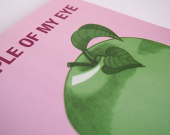 Apple Of My Eye Blank Greeting Card