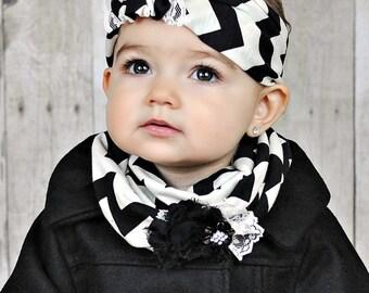 Chevron Jersey Headband - Adult headband - Stretch Headwrap - Earwarmer - Baby headband