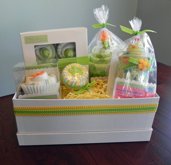 babybinkz gift basket unique baby shower gift or centerpiece cute girl boy neutral