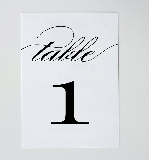 This is an image of Impertinent Free Printable Table Numbers 1-20