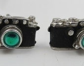 Vintage Signed Anson Camera Figural Photography Cufflinks