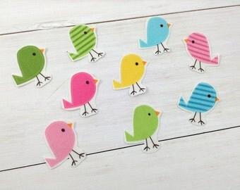 DIY Iron-on Appliques (4) - Spring Birdies