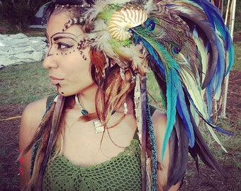 "Mermaid Nautilus Shell Headdress  - ""AMPHITRITE"""