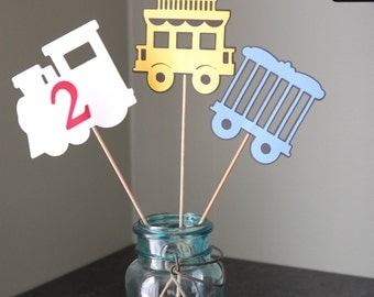 Train Centerpieces Birthday Party Baby Shower Theme 9 Pcs